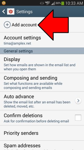 android-email-app-settings