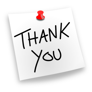 thank you pinned note 800